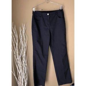 ST JOHN SPORT | Button Navy Pants 6